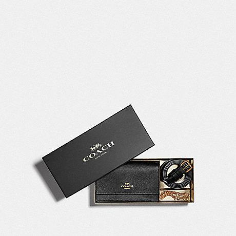 COACH BOXED FLAP BELT BAG - IM/BLACK - F87762