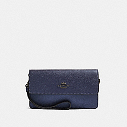 COACH F87774 - FOLDOVER WRISTLET IN COLORBLOCK QB/BLUE MULTI