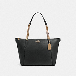 COACH F87775 - AVA CHAIN TOTE IM/BLACK