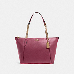 COACH F87775 - AVA CHAIN TOTE IM/DARK BERRY
