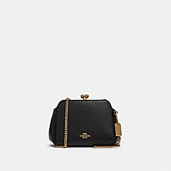 COACH F87822 - PEARL KISSLOCK CROSSBODY IM/BLACK