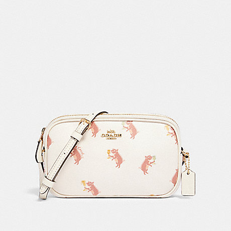 COACH CROSSBODY POUCH WITH PARTY PIG PRINT - IM/CHALK MULTI - F87848