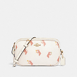 COACH F87848 Crossbody Pouch With Party Pig Print IM/CHALK MULTI