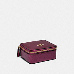 COACH F87879 Jewelry Box IM/DARK BERRY/METALLIC BERRY
