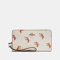 LARGE PHONE WALLET WITH PARTY PIG PRINT - F87892 - IM/CHALK MULTI