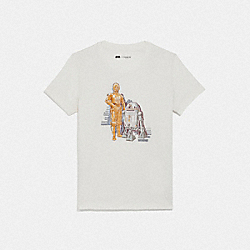 COACH F87905 - STAR WARS X COACH C-3PO AND R2-D2 T-SHIRT WHITE