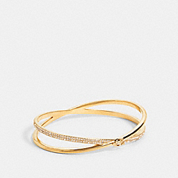 CRISS CROSS BANGLE - F87946 - GOLD