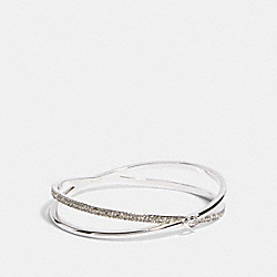 COACH F87946 Criss Cross Bangle SILVER