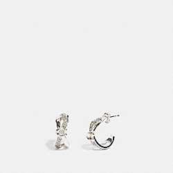 CRISS CROSS HUGGIE EARRINGS - F87948 - SILVER