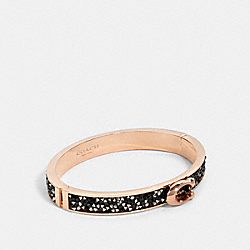 SPRINKLE STONE SIGNATURE PUSH BANGLE - F87951 - RS/BLACK