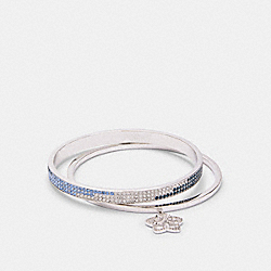 SIGNATURE FLORAL BANGLE SET - F87952 - SV/BLUE