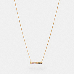 COACH F87957 Crystal Bar Necklace GD/MULTI