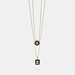 COACH F87965 Deco Layer Necklace GD/MULTI