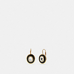 DECO LEVERBACK EARRINGS - F87970 - GD/BLACK