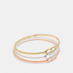 SIGNATURE BANGLE SET - F87972 - MULTICOLOR