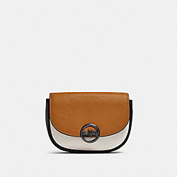 JADE MINI BELT BAG IN COLORBLOCK - F88006 - QB/LIGHT SADDLE MULTI