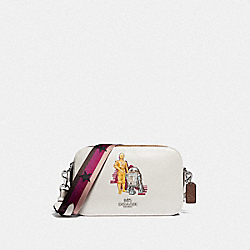 STAR WARS X COACH JES CROSSBODY IN SIGNATURE CANVAS WITH C-3PO AND R2-D2 - F88008 - SV/CHALK MULTI