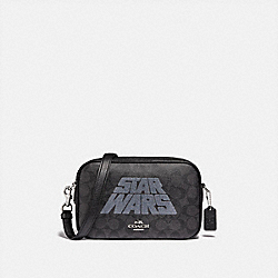 COACH F88009 Star Wars X Coach Jes Crossbody In Signature Canvas With Motif SV/BLACK SMOKE/BLACK MULTI