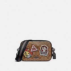 COACH F88010 Star Wars X Coach Jes Crossbody In Signature Canvas With Patches QB/KHAKI MULTI