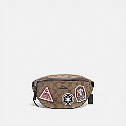 COACH F88013 - STAR WARS X COACH BELT BAG IN SIGNATURE CANVAS WITH PATCHES QB/KHAKI MULTI