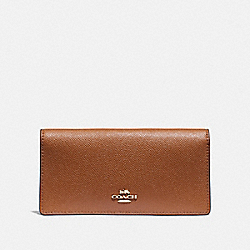 COACH F88025 Bifold Wallet IM/LIGHT SADDLE