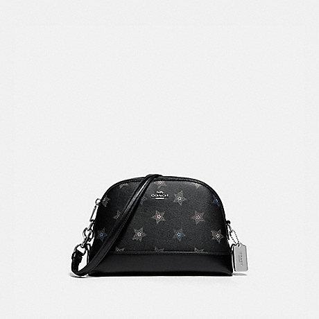 COACH F88031 DOME CROSSBODY WITH DOT STAR PRINT SV/BLACK-MULTI