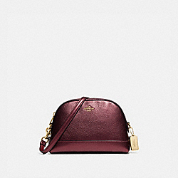 COACH F88036 - DOME CROSSBODY IM/METALLIC WINE