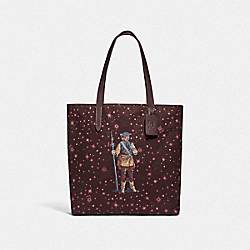 COACH F88039 - STAR WARS X COACH TOTE WITH STARRY PRINT AND PRINCESS LEIA AS BOUSHH QB/MULTICOLOR