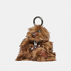 STAR WARS X COACH CHEWBACCA BEAR BAG CHARM - F88048 - QB/DARK SADDLE