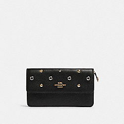 COACH F88081 - FOLDOVER WRISTLET WITH GROMMETS IM/BLACK