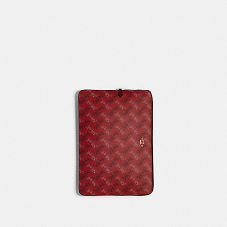 COACH F88087 LAPTOP SLEEVE WITH HORSE AND CARRIAGE PRINT IM/BRIGHT RED/CHERRY MULTI