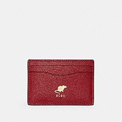 COACH F88094 - LUNAR NEW YEAR CARD CASE WITH RAT IM/TRUE RED