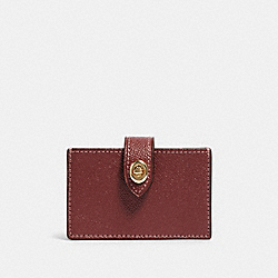 COACH F88097 Accordion Card Case IM/WINE