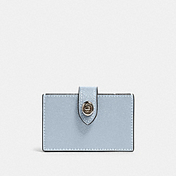 COACH F88097 - ACCORDION CARD CASE SV/PALE BLUE