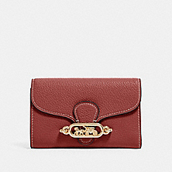COACH F88099 Jade Medium Envelope Wallet IM/WINE