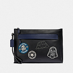 STAR WARS X COACH CARRYALL POUCH WITH PATCHES - F88113 - QB/BLACK