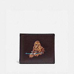 COACH F88116 - STAR WARS X COACH 3-IN-1 WALLET WITH CHEWBACCA QB/OXBLOOD