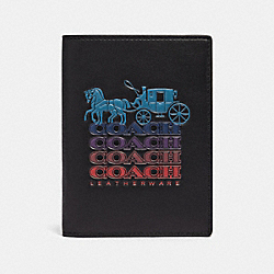 COACH F88122 Passport Case With Ombre Coach QB/BLACK MULTI
