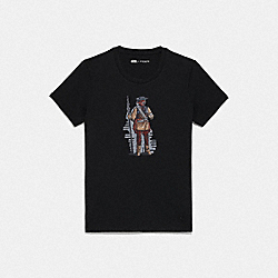 COACH F88133 - STAR WARS X COACH PRINCESS LEIA AS BOUSHH T-SHIRT BLACK