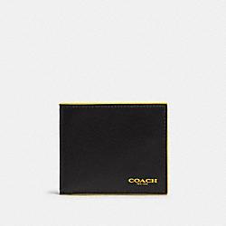 COACH F88135 Id Billfold Wallet In Colorblock BLACK BANANA MULTI