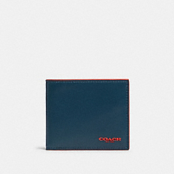 COACH F88135 Id Billfold Wallet In Colorblock AEGEAN SPORT RED