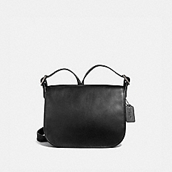 COACH F88145 Patricia Saddle Bag QB/BLACK