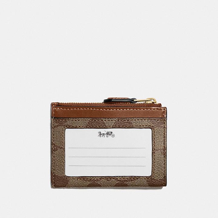 コーチ公式アウトレット   ミニ スキニー ID ケース シグネチャー キャンバス   カードケース/パスケース