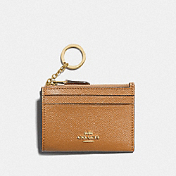 COACH F88250 Mini Skinny Id Case IM/LIGHT SADDLE