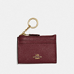 COACH F88250 - MINI SKINNY ID CASE IM/WINE