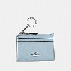 COACH F88250 - MINI SKINNY ID CASE SV/PALE BLUE