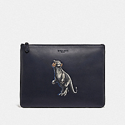 COACH F88337 - STAR WARS X COACH LARGE POUCH WITH TAUNTAUN QB/MIDNIGHT