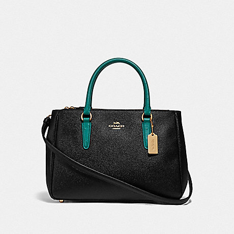 COACH F88745 SURREY CARRYALL IM/BLACK-VIRIDIAN