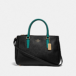 COACH F88745 - SURREY CARRYALL IM/BLACK VIRIDIAN