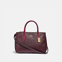 COACH F88745 - SURREY CARRYALL IM/RASPBERRY/DARK FUCHSIA